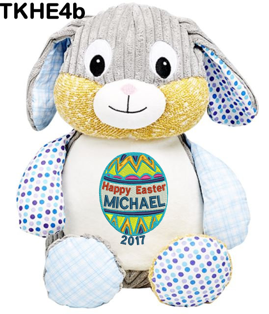 Harlequin Blue Bunny for Boys
